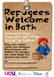 Bath refugee solidarity poster - Please print out and put up in your work area